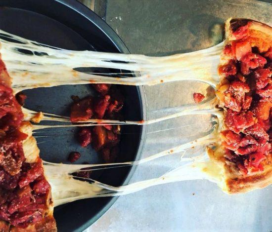 Chi-Pie deep dish pizza cheese
