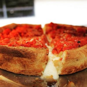 Chi-Pie deep dish pizza crust - featured on Foodzooka