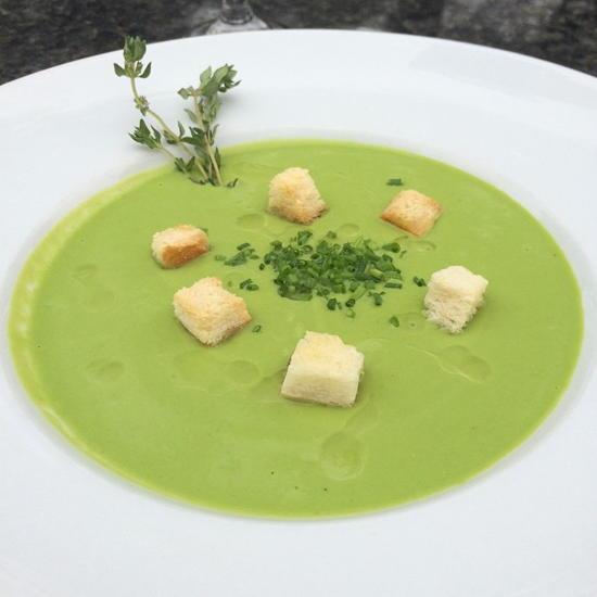 Bistro de la Gare (courtesy) - Asparagus and pea soup with truffle oil