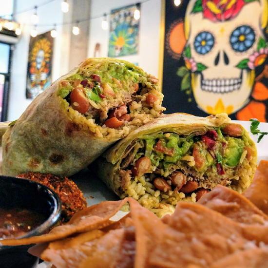 Calavera Burrito Co. - Carnitas Burrito (Foodzooka)