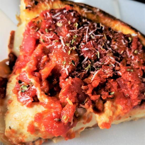 Chi-Pie - Sausage pizza slice (Foodzooka)