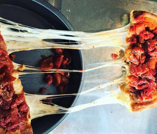 Chi-Pie (courtesy) - Pepperoni and sausage pizza