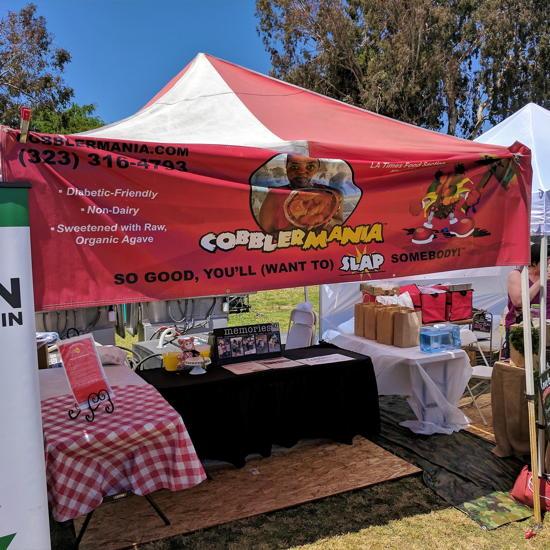 Cobblermania - VegFest LA booth (Foodzooka)