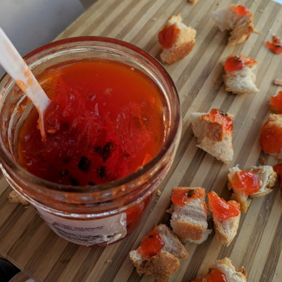 Coldwater Canyon Provisions - Sweet Red Pepper Jelly samples (Foodzooka)