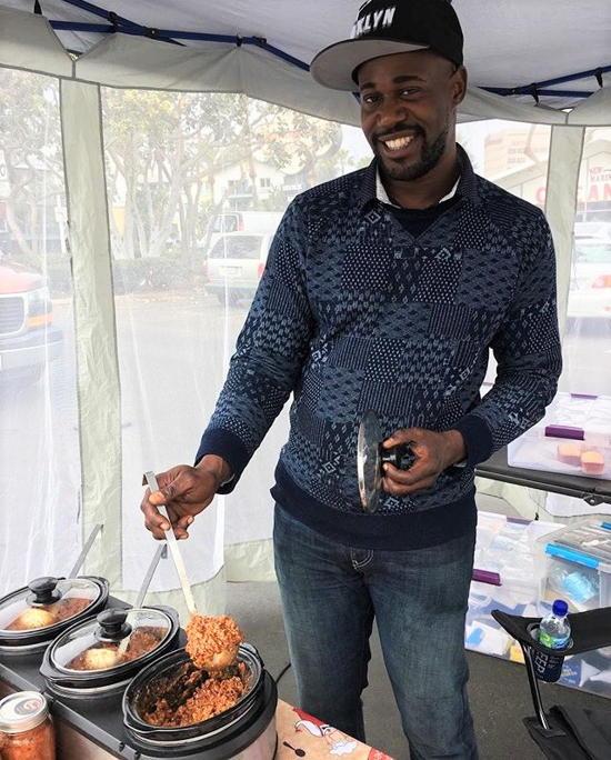 Dami's Famous Foods - Damien Pierre at Marina Del Rey Farmers Market (courtesy)