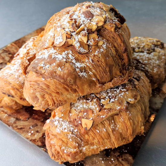 Evan Angelo's - Almond croissants (Foodzooka)