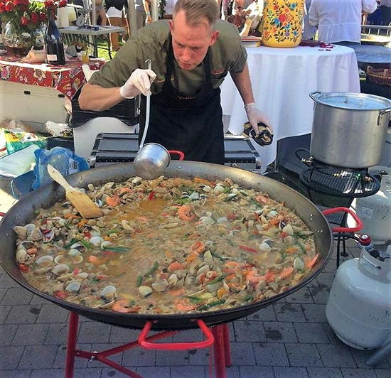 Got Paella-L.A. Paella Catering (courtesy) - Owner Ben Schuster at the Paella Wine Festival