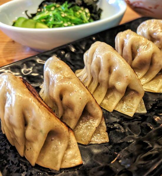 Harajuku Taproom - Mushroom gyoza (Foodzooka)