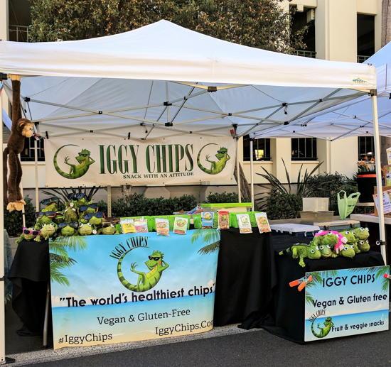 Iggy Chips - Farmers market stand (Foodzooka)