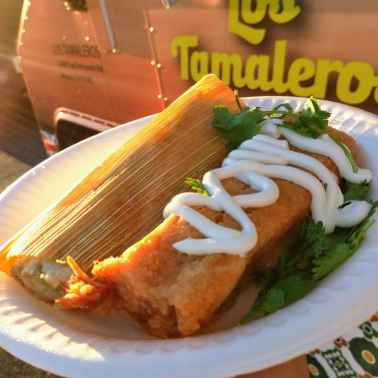 Los Tamaleros - Pork tamale (Foodzooka)