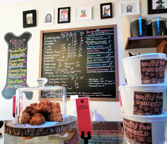 Muddy Paw Coffee - Beverage menu and snacks (Foodzooka)