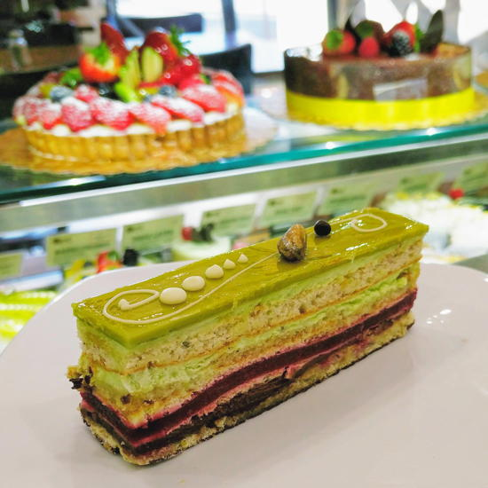 Pascal Patisserie & Cafe - Pistachio raspberry cake (Foodzooka)