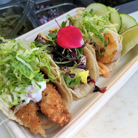 Pinch Of Flavor - Seafood Trio tacos (Foodzooka)