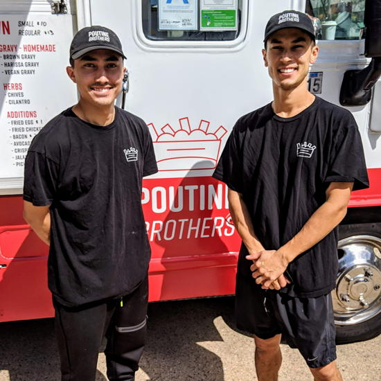 Poutine Brothers - Owners Matt and Chris Urakami (Foodzooka)