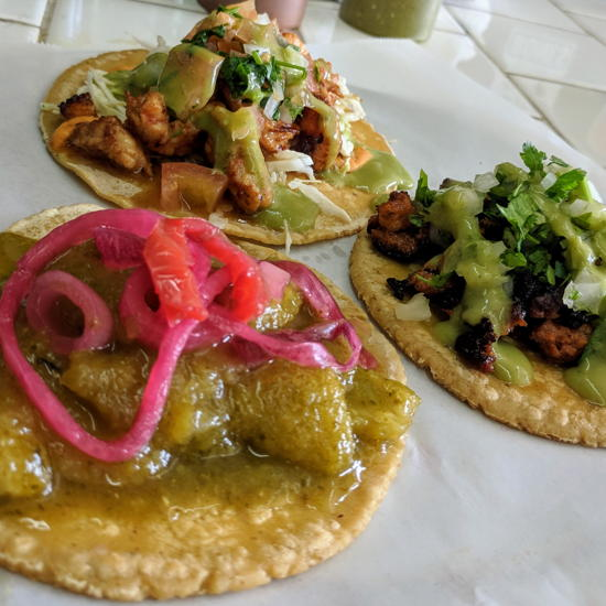 Street Tacos and Grill - Chicharron Al Pastor Shrimp Tacos (Foodzooka)
