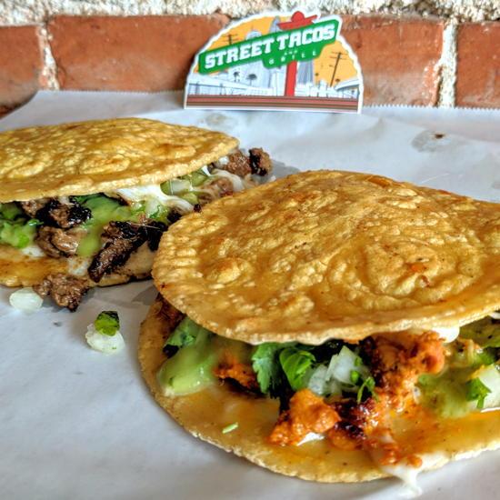 Street Tacos and Grill - Chicken Carne Asada Mulitas (Foodzooka)
