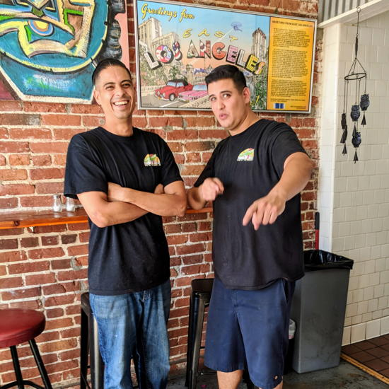 Street Tacos and Grill - Owners Arturo and Leo Aguilar (Foodzooka)