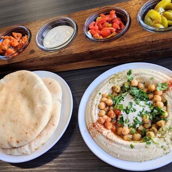 Tel Aviv Fish Grill - Tapas platter (Foodzooka)