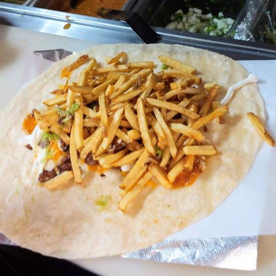 Toro Grillhouse - California Burrito stuffed with fries (Foodzooka)