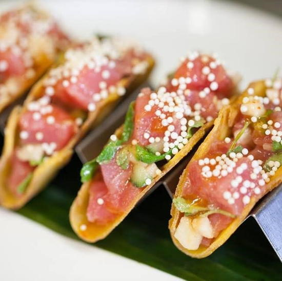 Upper West (courtesy) - Ahi Tuna Crispy Plantain Tacos
