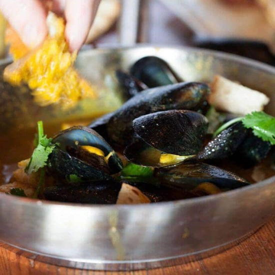 Upper West (courtesy) - Mussels with Garlic Saffron Broth