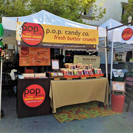 p.o.p. candy co. - Farmers market stand (Foodzooka)